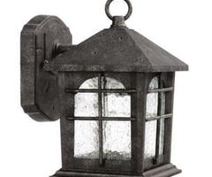 Hampton Bay Solar Tiffany Lantern Outdoor Garden / Landscape Light, Bronze Finish