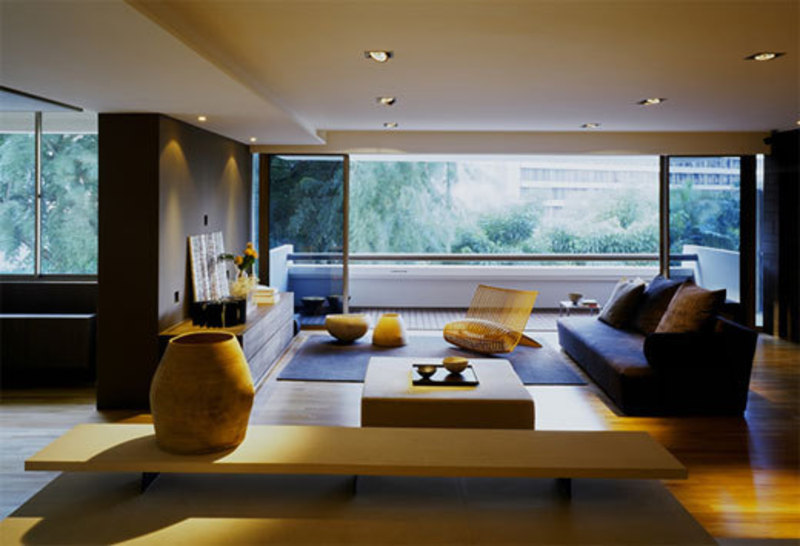 modern minimalist apartment decorating interior design with