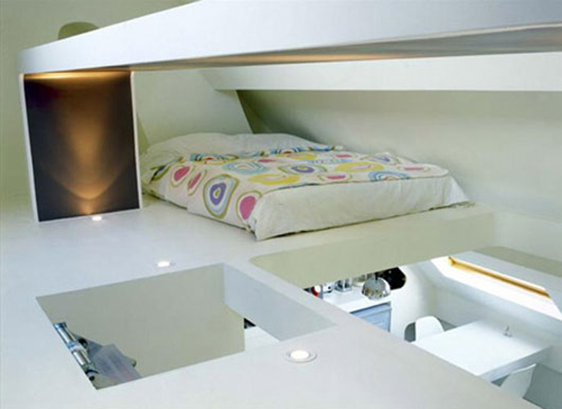 Small Loft Bedroom Ideas Small Decorative Space Saving Apartment
