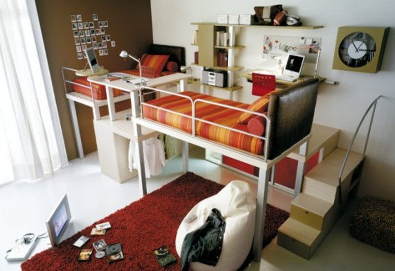 Cool loft children bedroom designs from tumidei small loft for Awesome bedroom ideas for small rooms