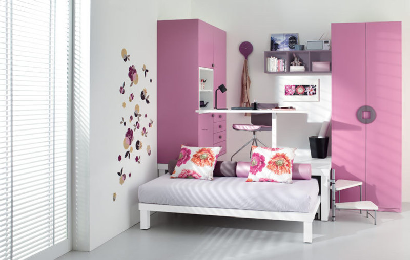 Small Loft Bedroom Ideas, Colorful Teenage Loft Bedrooms by Tumidei