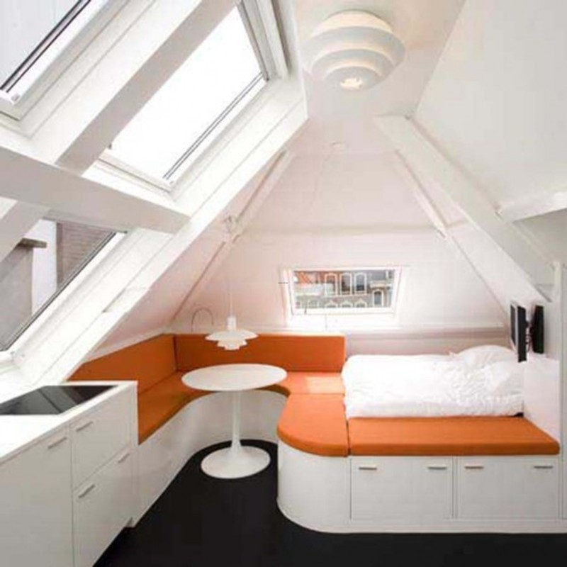 Small Loft Bedroom Ideas, Small Loft Apartment, A Beautiful Design from Queeste Architecten