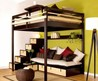 Loft Bed Contemporary Bedroom Design for Small Space by Espace Loggia 