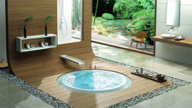 Jacuzzi stands for jetted and spa bathtub design for Jacuzzi bathroom designs
