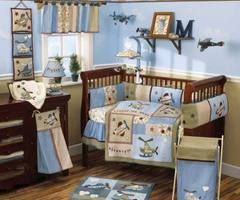 Baby Nursery Bedding Sets, Themes and Ideas airplane baby boy bedding – nabuzz.com
