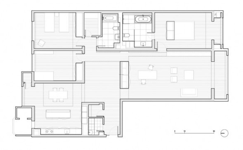 Modern Minimalist Apartment, White Minimalist Apartment Interior Design – Apartment 3E by Vector Architects on Zeospot