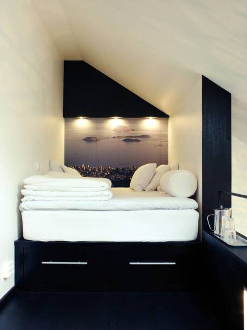 Small Loft Bedroom Ideas Platform Bed In Small Sleeping Loft