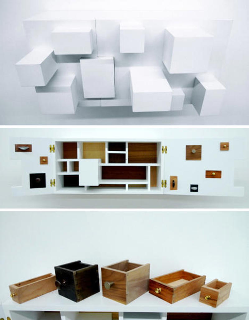 Storage Solution, Psych Cabinet by Vivian Chiu Comes With Some Inverted Drawers