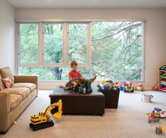 kids game room interior modern ranch