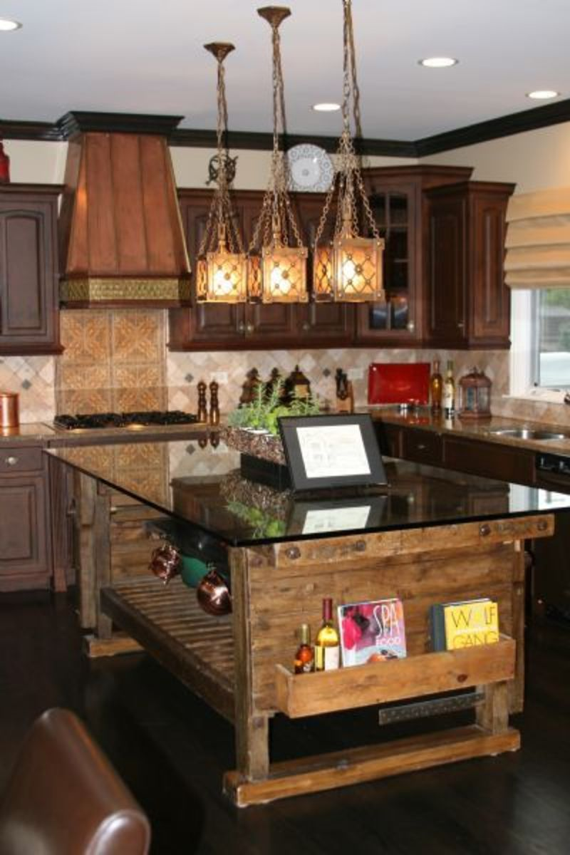 25 rustic interior design inpisrations via philip sassano for Rustic kitchen island ideas