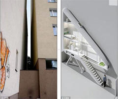 Thinnest House In the World Needs Its Own Alley