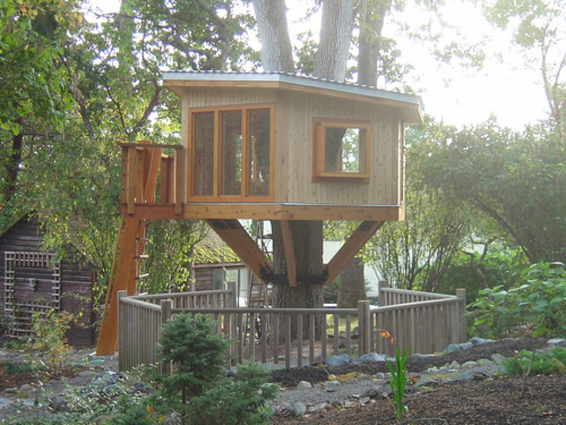 Making simple modern tree house design design bookmark 2146 for Tree house ideas plans