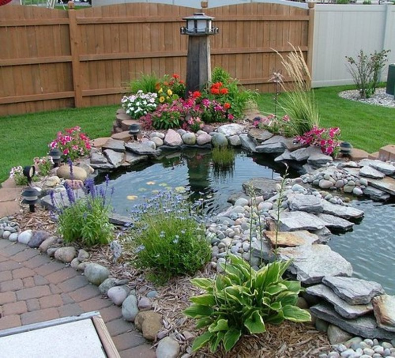 Fish pond ideas design bookmark 2187 for Backyard koi pond designs