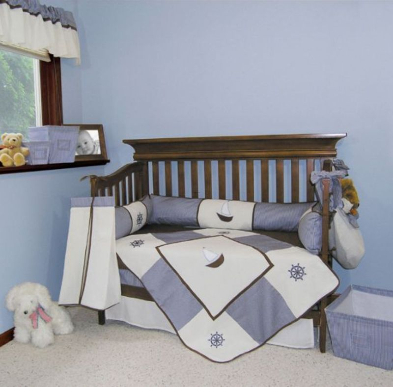 Nautical Themed Bedding For Babies: Soothing Sailboats For A Nautical Themed Baby Boy Nursery