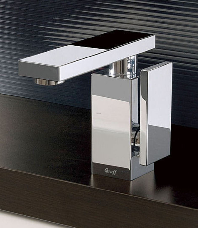Ultra modern bathroom faucet inspired by stealth bomber for Modern bathroom fixtures