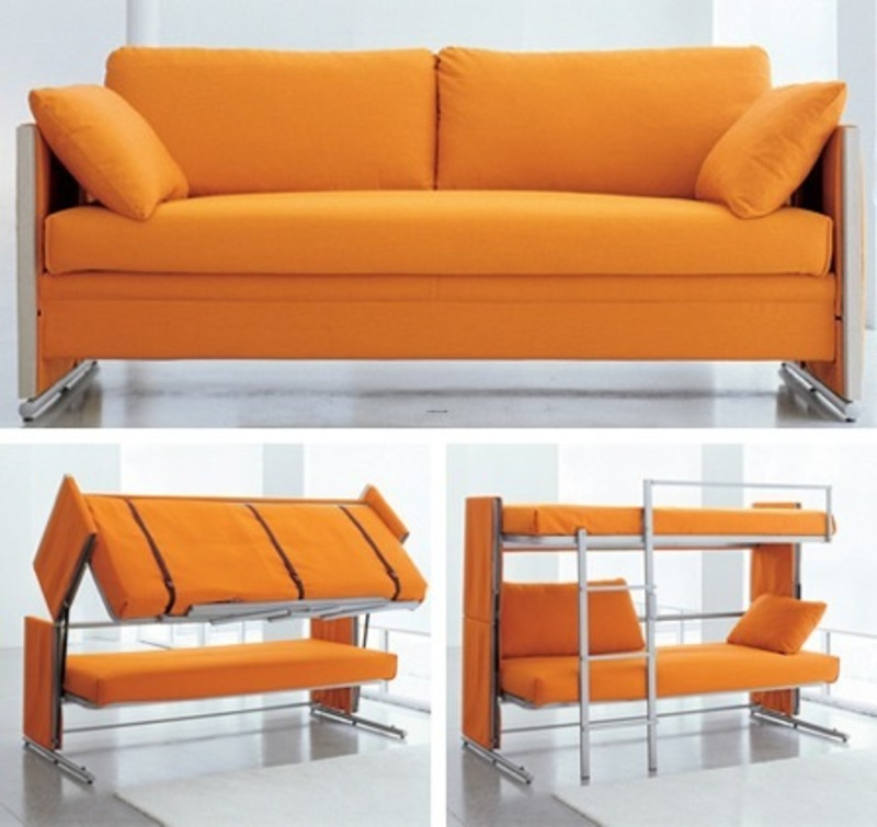 Sofa bunk bed - Small space convertible furniture image ...