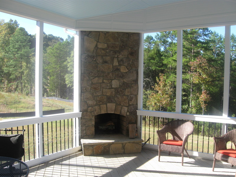Putting Your Outdoor Fireplace Integrated Into Your Screen ...