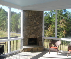 Putting your Outdoor Fireplace integrated into your screen porch/ covered patio