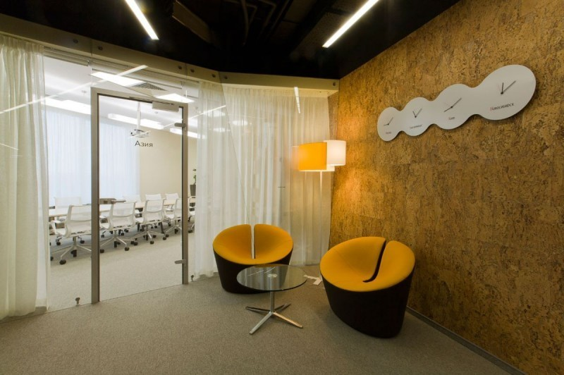 Office Waiting Room Design, Yandex Modern Office Design by Za Bor Architects 04 Small Waiting Room