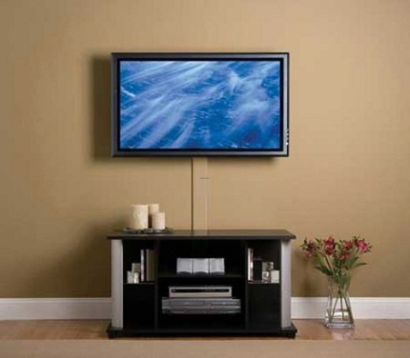Feature wall tv console design