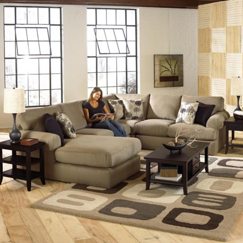 Luxurious sectional sofa design by best home furnishings for Living room layout with sectional