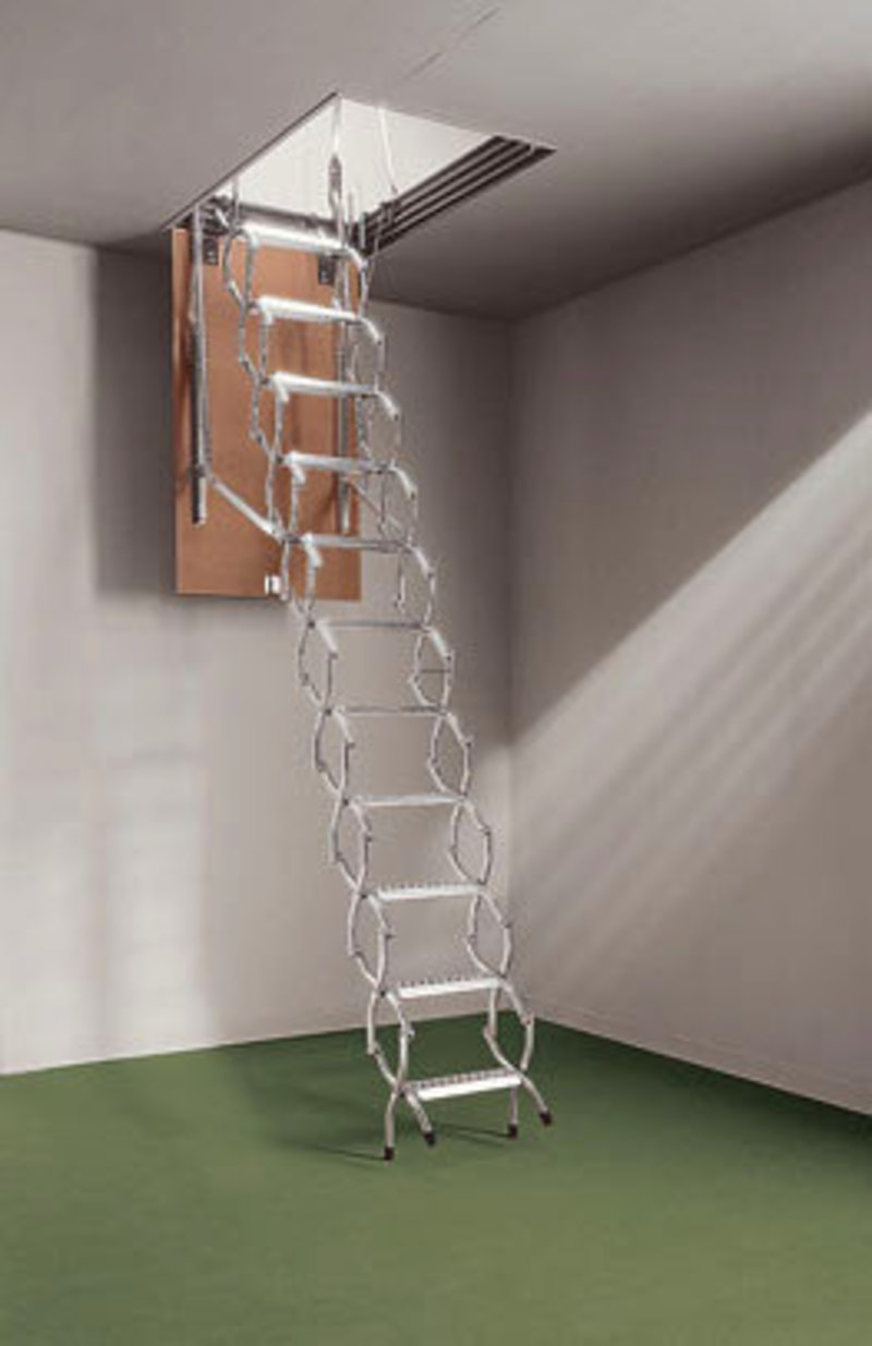 Space Saving Retractable Staircase That Folds Away In