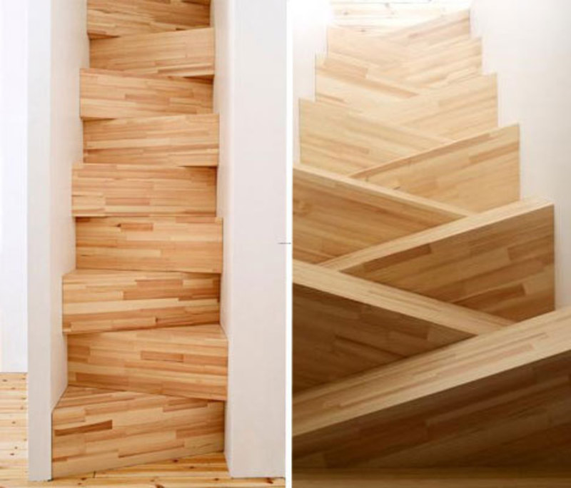 Space Saving Staircase Designs: 15 Spectacular Stairs And Staircase Designs / Design