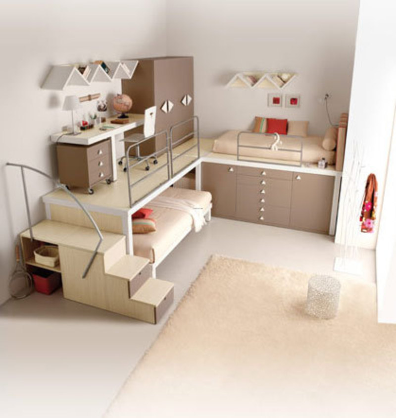 Modern loft beds design bookmark 2468 for Modern loft bedroom