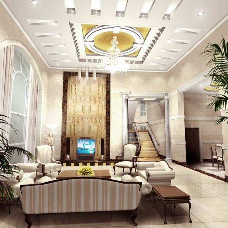 Modern Interior Decoration Living Rooms Ceiling Designs Ideas: Sell Luxury House Interior Design Of Living Room Decoration / Design Bookmark #2477