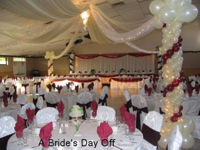 Wedding reception hall decorations design bookmark 2642 for Cheap decorating ideas for wedding reception tables