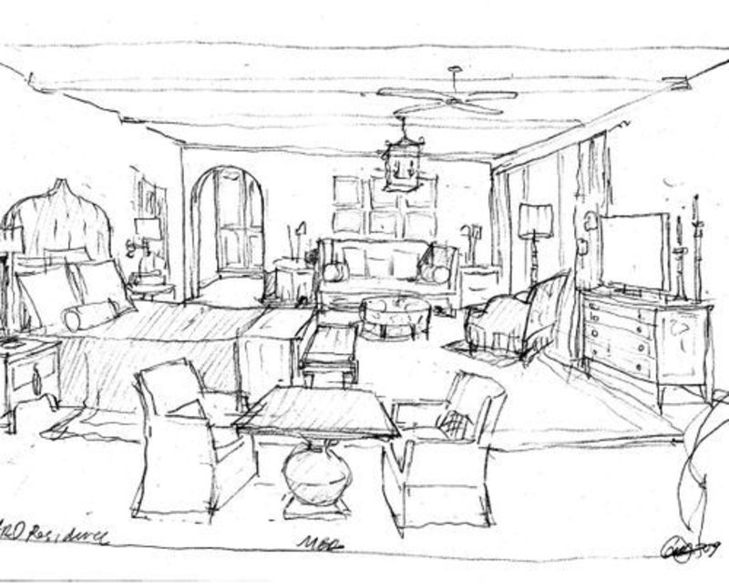 interior design sketches simple but very unique home interior design