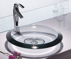 Modern glass bathroom vanity sinks from Kohler