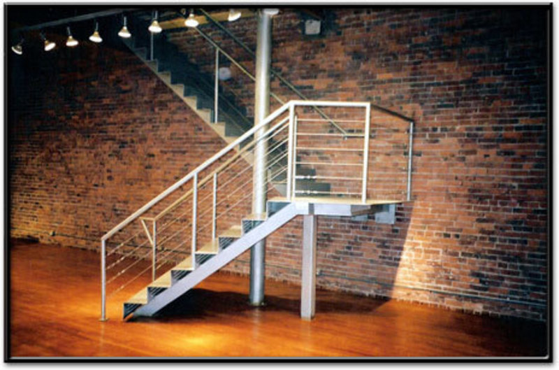 Cable Rail Stairs, Railing made of steel cable