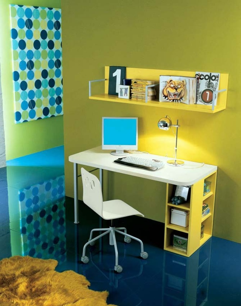 Study table design furniture photograph kids study room de - Study room furniture designe ...