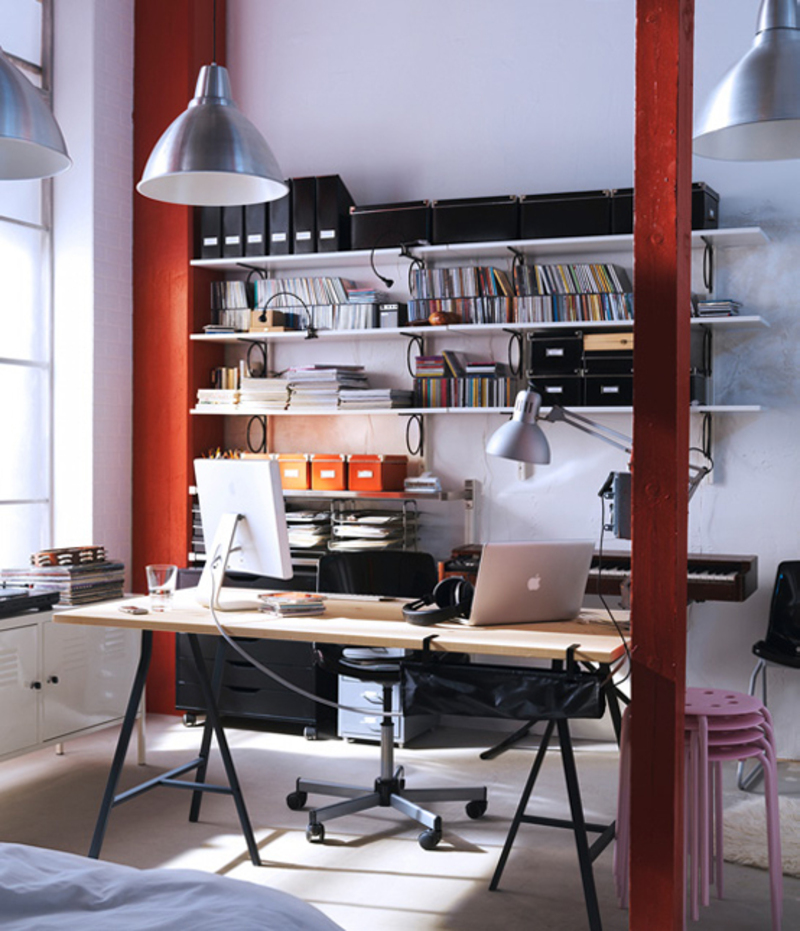 Great Ideas To Organize Workspace At Home By Ikea