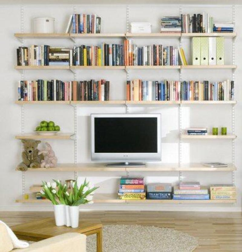 Decorate a modern living room shelf in you living room Modern shelves for living room