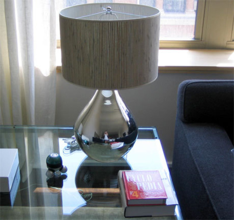 Mercury Table Lamp, Calypso Mercury Glass Lamp