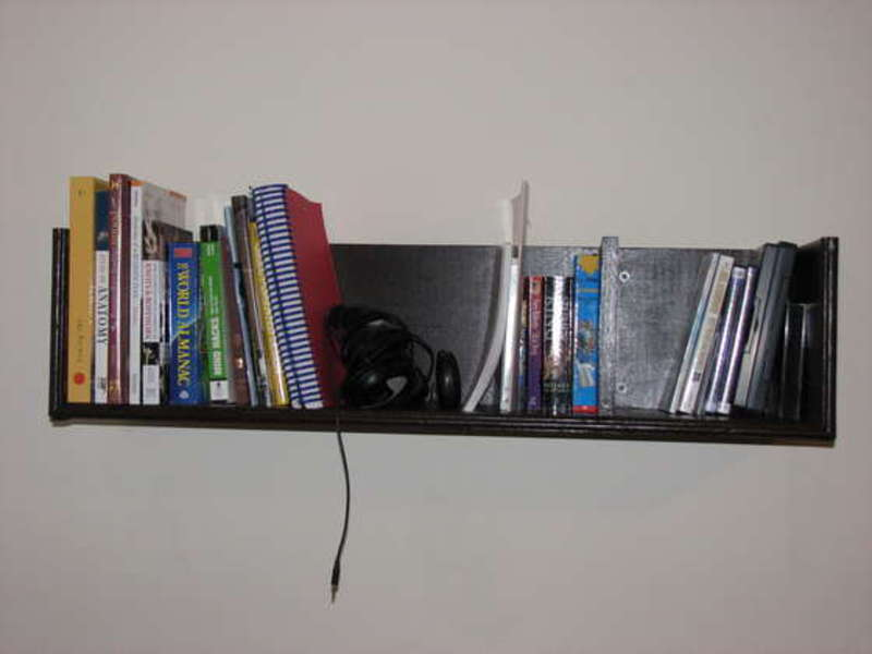 How to build wall mounted bookshelves for less than 100 - Wall mounted bookshelf designs ...