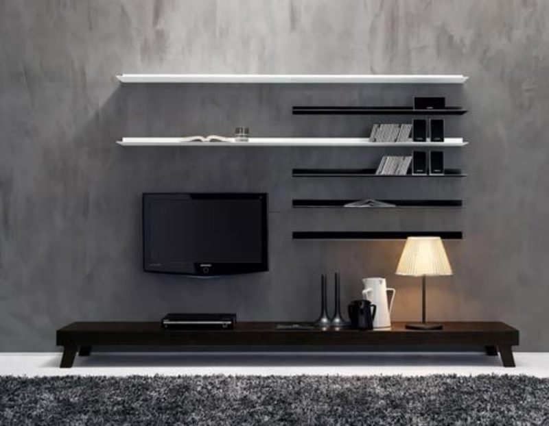 wall units and wall mounted shelves inspirational pictures. Black Bedroom Furniture Sets. Home Design Ideas