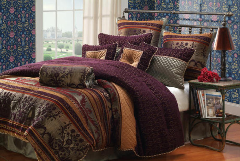Luxury Bedding Sets Bed In A Bag Comforter Purple Plum