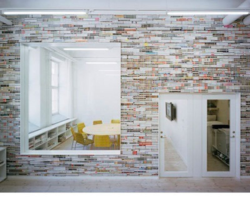 Wall Decor For Office, Wall Decor: Magazines as a Construction Material
