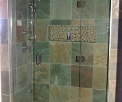 glass shower doors frameless