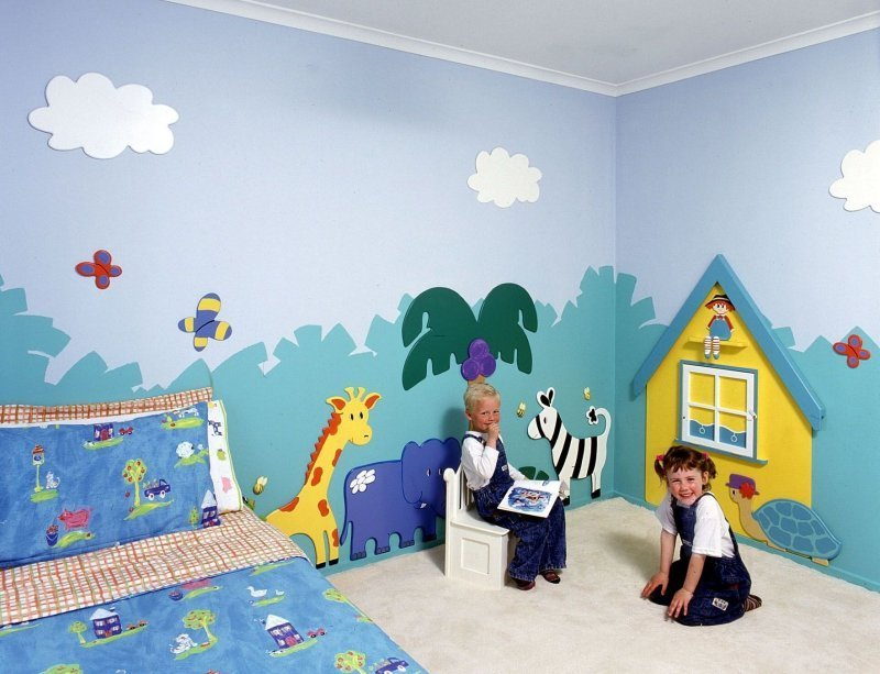 Wall art and decor for kids design bookmark 2939 - Childrens bedroom wall painting ideas ...