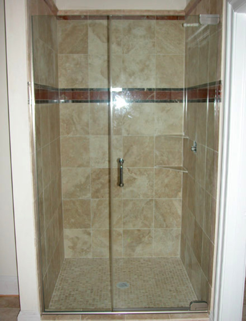 Frameless hinged glass shower door eyeglasses online for Bathroom entrance doors