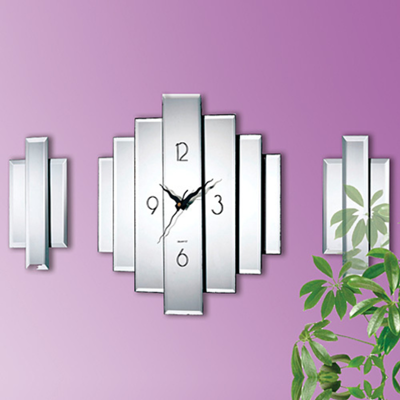 Wall Decor For Office, MIRROR WALL CLOCK SET at Taylor Gifts