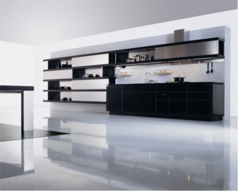 Black White Kitchen Cabinets, Elegant, Modern Minimalist Black White Kitchen Design Inspiration