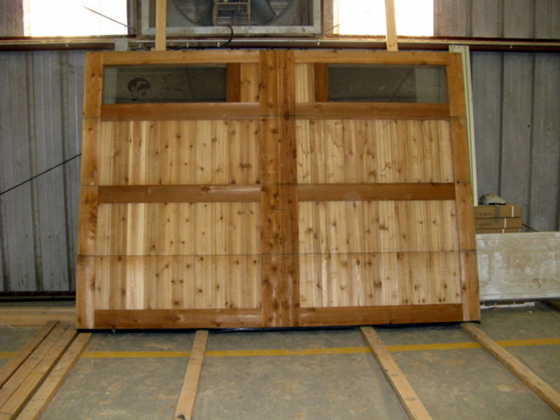 Quick Delivery Wood Garage Doors Design Bookmark 3100