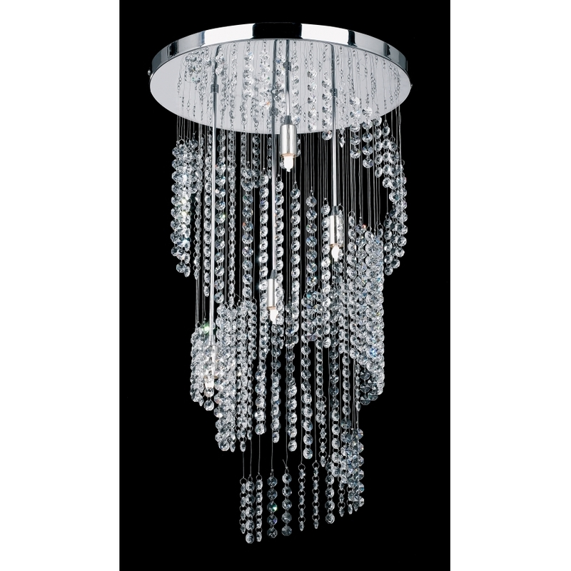 Endon 91290 4 light modern crystal chandelier spiral design chrome finish design bookmark 3152 - Can light chandelier ...