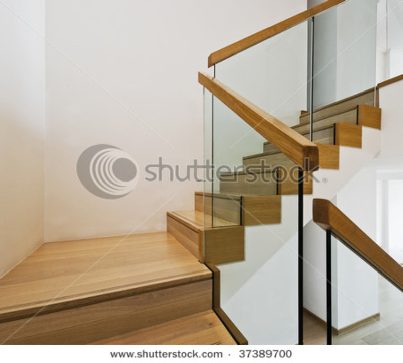 Contemporary Stair Railing, Contemporary Stair Case With Wooden Steps ...