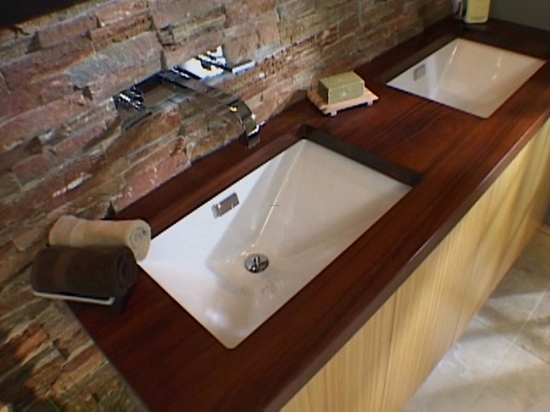 ... Ideas, How to Install a Bathroom Countertop and Undermount Sinks : How